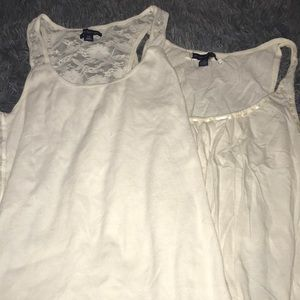bundle of 2 american eagle white camisoles/tanks!